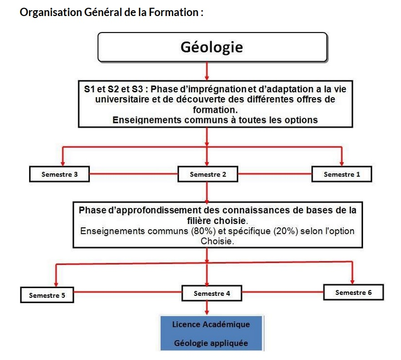 photo organisation de la formation geologie