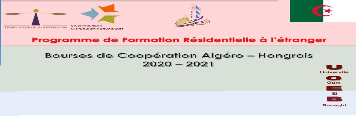 Bourse Algéro Hongrois 2020 2021