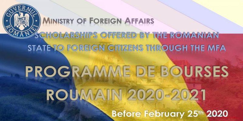Appel à candidature  Bourses en Roumanie  Au titre de l'année universitaire  2020-2021