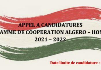 PROGRAMME DE COOPERATION ALGERO – HONGROIS  2021 – 2022