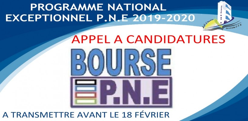 PROGRAMME NATIONAL EXCEPTIONNEL P.N.E 2019-2020